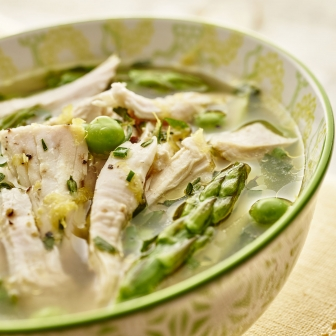 Spring Vegetable Chicken Soup, Restaurant Food Photographer