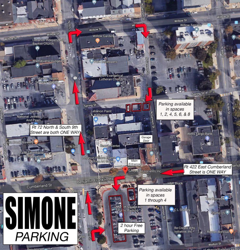 Simone Parking Map